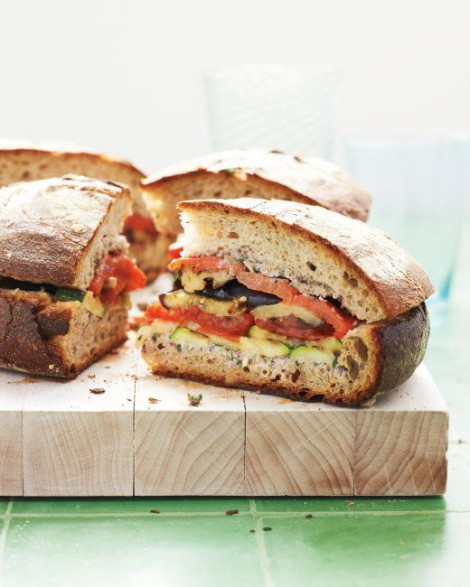 Ratatouille inspired sandwich - from www.marthastewart.com via Pinterest