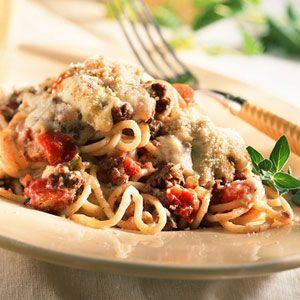 Mediterranean Vegetable Spaghetti from www.myrecipes.com